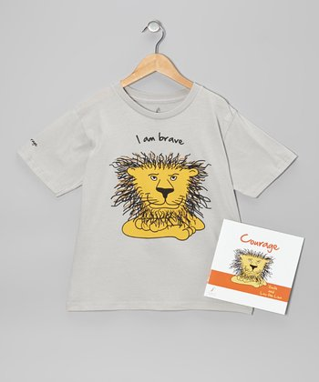 Gray Lion 'Courage' Tee & Paperback - Kids