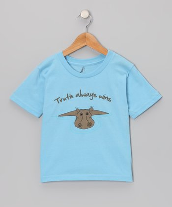 Sky Blue Hippo 'Honesty' Tee - Kids