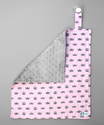 Light Pink Crown Jewel Binky Security Blanket