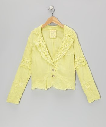 Dandelion Beaded Button-Up Jacket