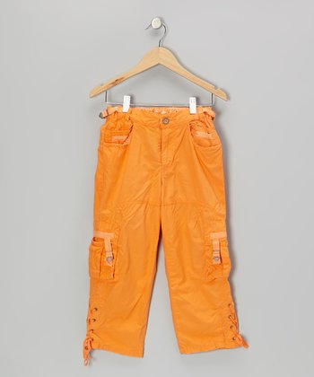 Africa Orange Cross-Tie Cargo Pants
