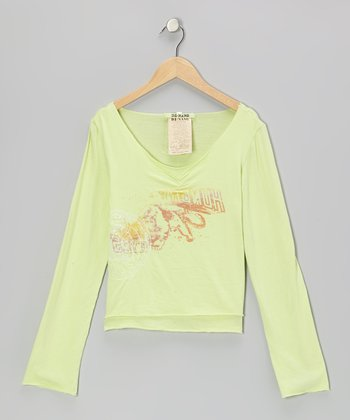 Pistachio Knit Buddha Layered V-Neck Top