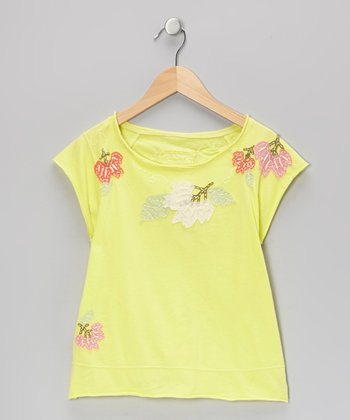 Dandelion Knit Flower Garden Cap-Sleeve Top