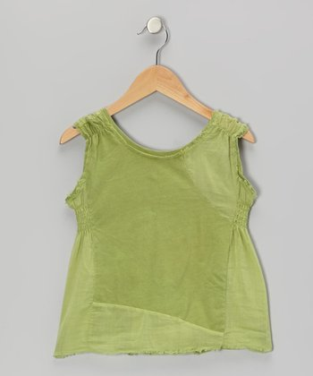 Kiwi Green Shirred Tank