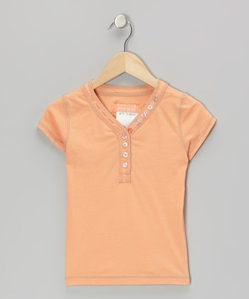 Goldfish Orange 'Da-Nang' Vine Henley