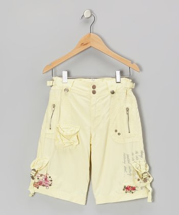 Daffodil Earth Bead Silk Cargo Pants