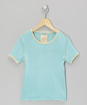Freeze Blue Silk Short-Sleeve Tee