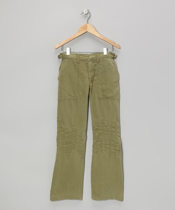 Caper Brown Cargo Pants - Girls