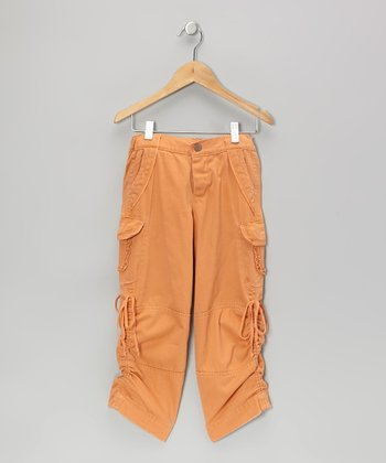 Mandarin Mystic Flower Bird Cargo Pants