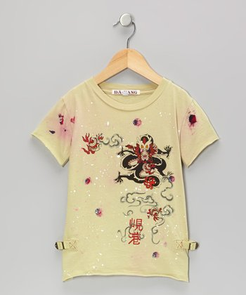 Pistachio Dragon Flower Short-Sleeve Tee