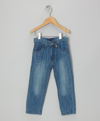 Vintage Wash Nautical Jeans - Boys
