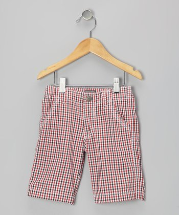 Red & Blue Plaid Shorts - Toddler & Boys
