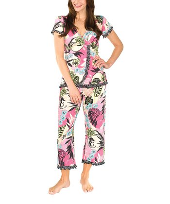 Menagerie Compass Nursing Pajama Set