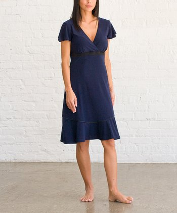 Navy Peacoat Rosabella Nursing Gown