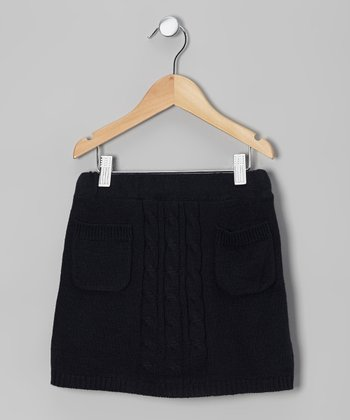 Navy Sweater Scooter Skirt - Girls