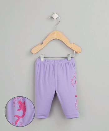 Baby Creationz - Purple Koi Pants 0-3mo