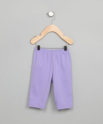 Purple Slip-On Pants