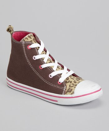 Brown Leopard Hi-Top Sneaker