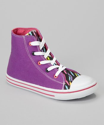 Purple Zebra Hi-Top Sneaker