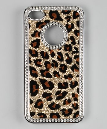 Gold Rhinestone Leopard Case for iPhone 4/4S