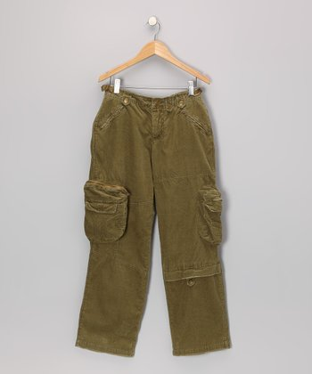 Olive Cargo Pants - Girls