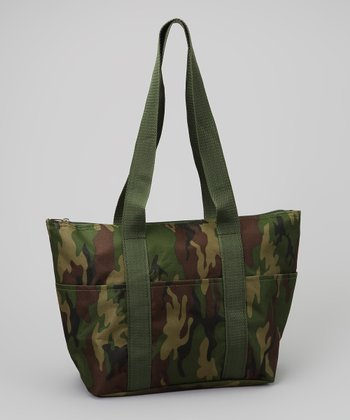 Green Camouflage Lunch Tote