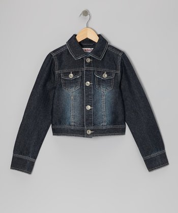 Dark Stone Wash Classic Denim Jacket