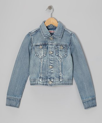Medium Chemical Wash Classic Denim Jacket