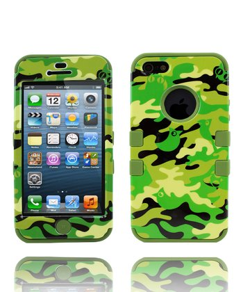 Green Camo Hybrid Case for iPhone 4/4s