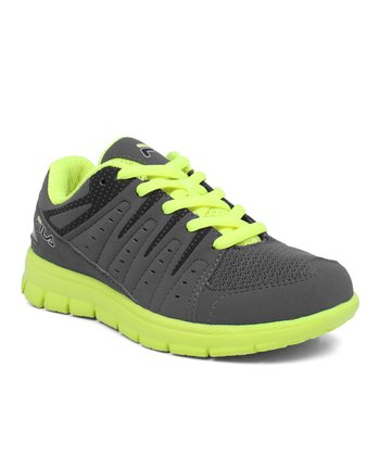 Pewter & Neon Green Aim-High Sneakers
