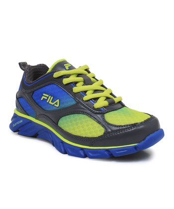 Royal Blue & Neon Green Stride Sneaker