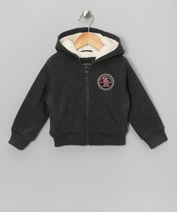 Charcoal Heather Fleece Hoodie - Toddler & Boys