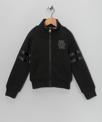 Black Fleece Track Jacket - Toddler & Boys