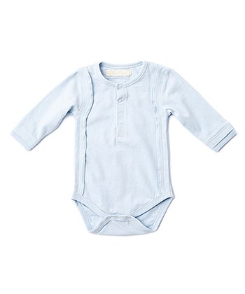 Corn Flower Blue Textured Bodysuit - Infant