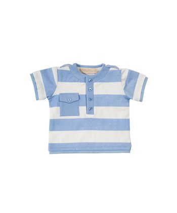 Cornflower Blue Stripe Henley - Infant & Toddler