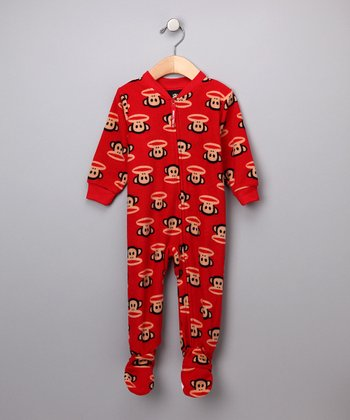 Red Monkey Pajama Footie - Infant & Toddler