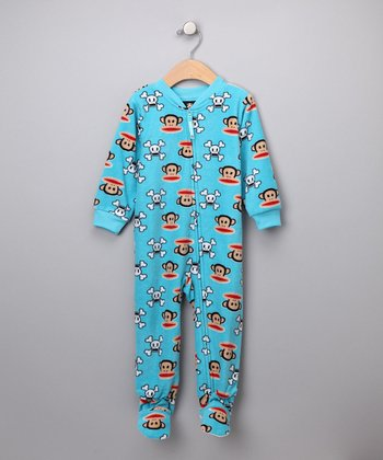 Blue Skull Pajama Footie - Infant & Toddler