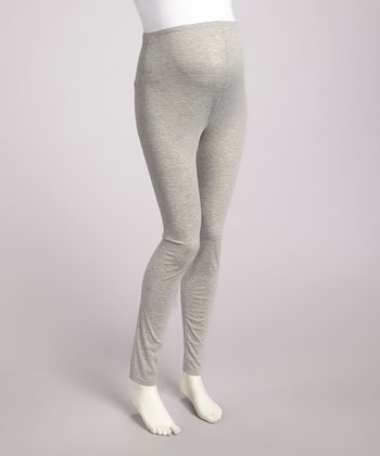 Heather Gray Over-Belly Maternity Leggings