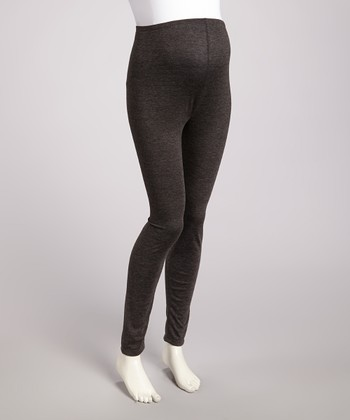 Charcoal Over-Belly Maternity Leggings