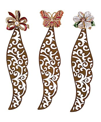 Jeweled Bookmarks - Set of Three