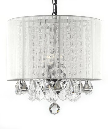 White Crystal Chandelier & Shade