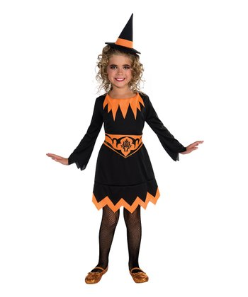 Orange Witch Dress-Up Set - Kids