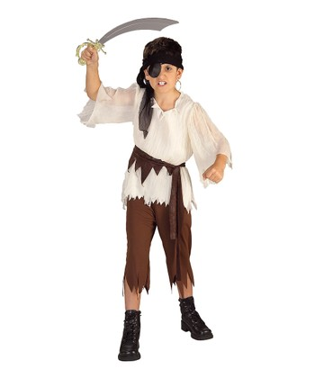 Brown Pirate Dress-Up Set - Kids