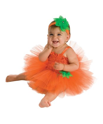 Orange Pumpkin Tutu Dress Set - Infant