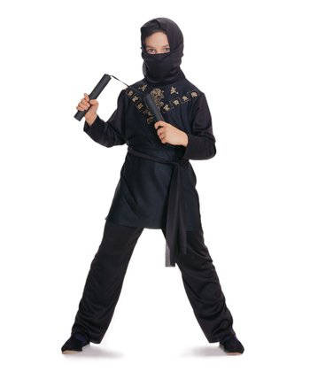 Black Ninja Dress-Up Set - Kids