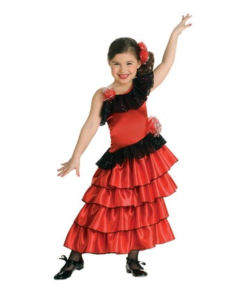 Flamenco Dancer Dress-Up Set - Girls
