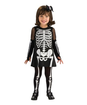 Skeleton Girl Dress-Up Set - Toddler