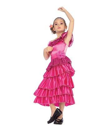 Rubie's Pink Flamenco Dancer Dress-Up Set - Girls