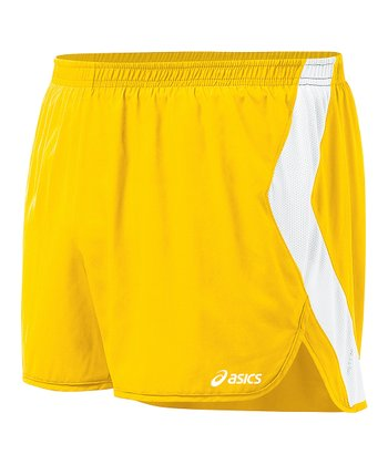 Gold & White Intensity Split Shorts - Women