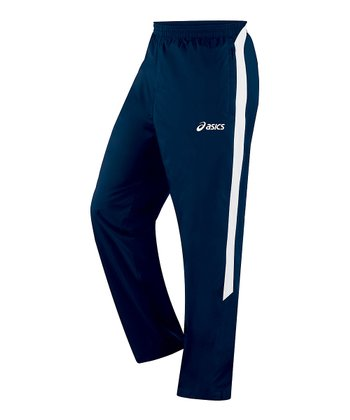Navy & White Caldera Warm-Up Track Pants - Men